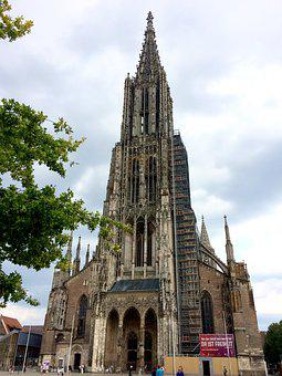 Ulm Cathedral, Steeple, Church, Building, Münster