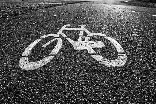 Bicycle, Road, Icon, Traffic Sign, Bike, Cycle