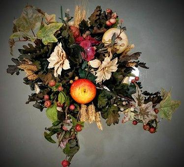 Nature, Dead, Flowers, Fruit, Colorful, Petals, Photo
