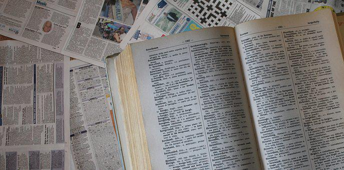Dictionary, Background, Header, Book, Banner, Text