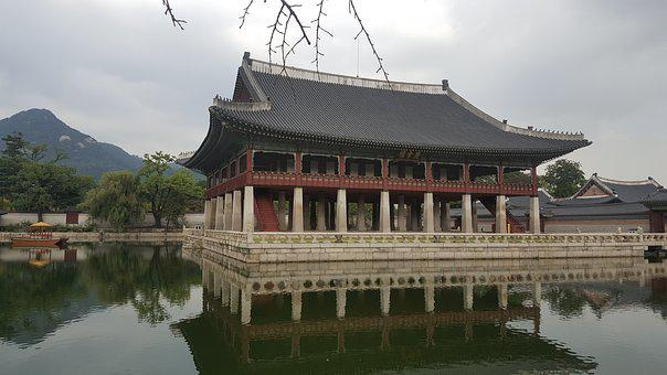 Gyeongbok Palace, The Palace In The Background