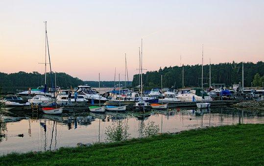 Haven, Lake, Marina, Water, Nature, Sailboats