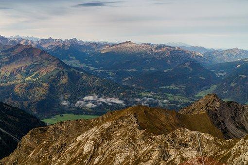 Oberstdorf, Foghorn, Kleinwalsertal, Ifen, Valley