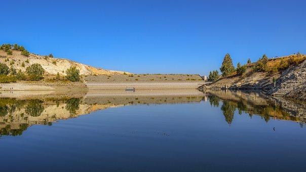 Lake, Landscape, Mountains, Scenery, Autumn, Morning