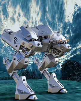 Robot, Mech, Machinery, Science Fiction, Fight