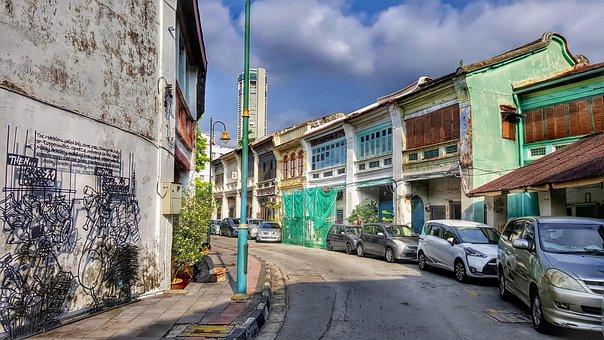 Penang Street View, Malaysia, Tou, Street, City, Penang