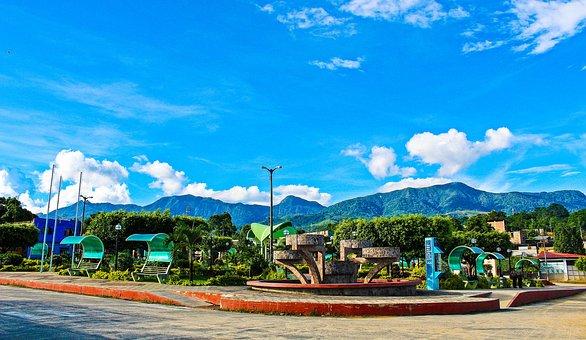 Plaza, Landscape, Hills, Urban Landscape, Architecture