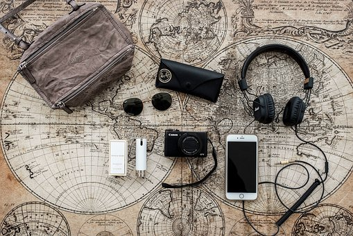 Iphone, Map, Credit Card, Phone, Headsets, Sound, Music