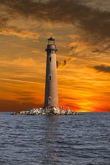 Dauphin Island, Lighthouse, Sunset