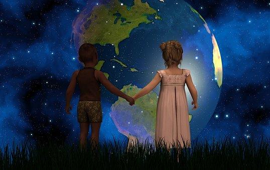 Children, Forward, America, Usa, South America, Canada