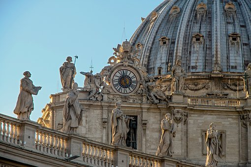 Rome, Sculpture, Vatican, Building, Italy, Travel