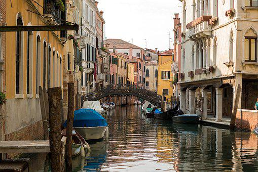 Venice, Italy, Channel, Venezia, Water, Gondolas, Boats