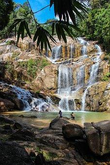 Waterfall, River, Malaysia, Water, Nature, Landscape