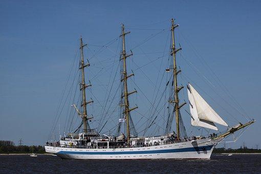 Sailing Vessel, Water, Three Masted, Boot, Seafaring