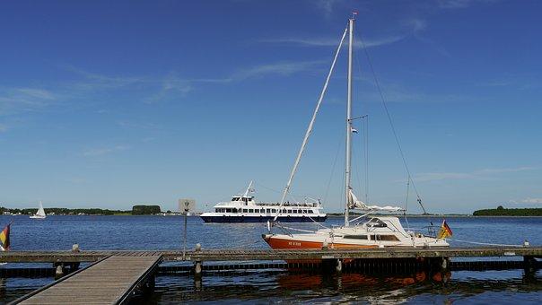 North Sea, Netherlands, Zeeland, Veere, Port, Ships