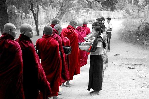 Burma, Myanmar, Monk, Temple, Buddhist, Bagan, Human