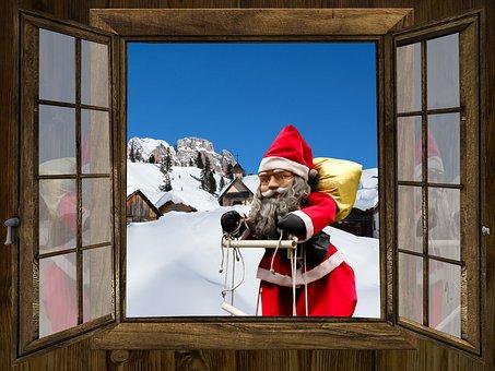 Winter, Christmas Time, Atmosphere, Christmas, Window