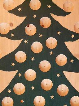 Fir Tree, Advent Calendar, Christmas Tree, Handicraft