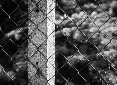 Fence, Column, Wire, Street, City, Macro, Close, Detail