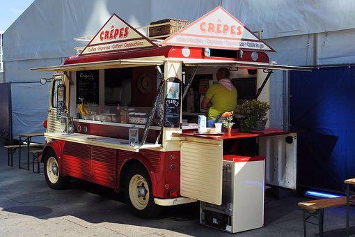 Crepes, Crepes-selling Cars, Mobile Shop, Old