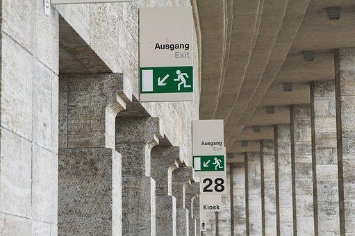 Escape Route, Emergency Exit, Escape, Emergency, Output