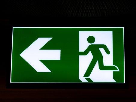 Exit, Emergency Exit, Escape Route, Output