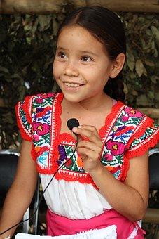 Girl, Indian, Chatina, Oaxaca, Mexico, Poverty, Face