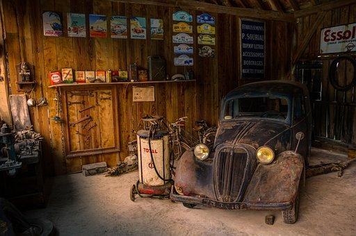 Garage, Shop, Car, Fix, Hdr, Light, Shadow