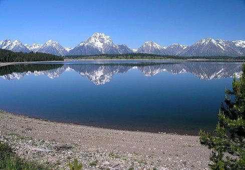 Jackson Lake, Grand Teton National Park, Wyoming, Water