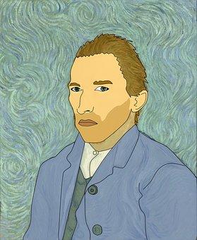Van Gogh, Illustration, Insanity, Artist, Man