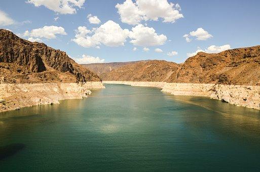 Dam, Hoover Dam, Reservoir, Usa, America, Nevada, Lake