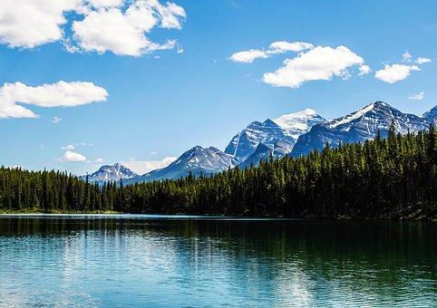 Alberta, Lake, Rockies, Nature, Rocky, Landscape