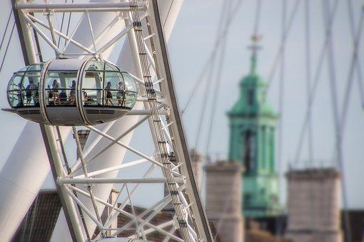 London, Britain, London Eye, Sky, Toruristik, Landmark