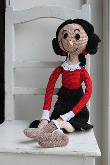 Cone, Popeye, Crochet Pattern, Crochet Doll, Long Doll