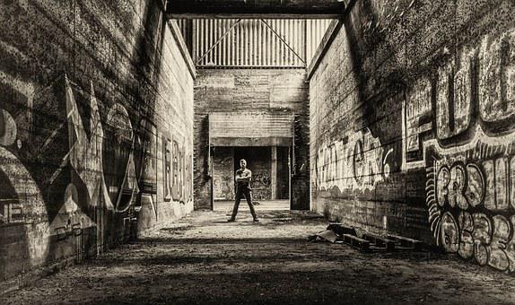 Man, Pforphoto, Lost Places, Underground, Hall, Lapsed