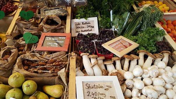 Farmers Local Market, Vegetables, Market Stall, Bio