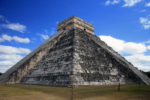 Pyramid, Maya, Ancient, Mexico, Temple, Stone, Yucatan