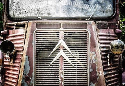 Citroen, Transporter, Citroen Type H, Vehicle, Old