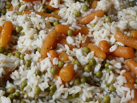 Rice Ladle, Rice, Peas, Carrots, Court, Risotto
