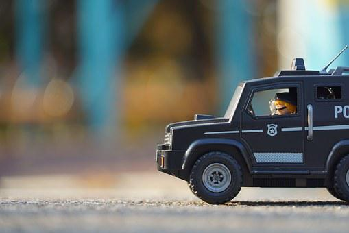 Playmobil, Police, Police Truck, Police Car, Toy