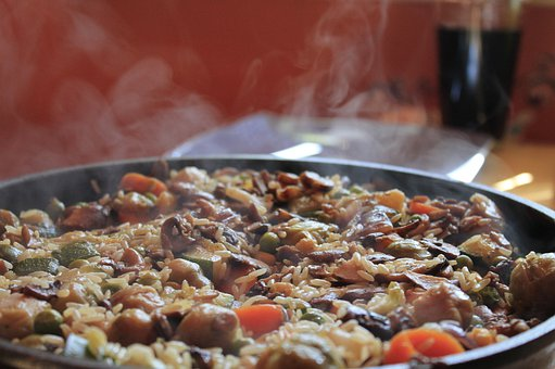 Fry Up, Paella, Pan, Frying Pan, Fry, Rice Ladle, Eat