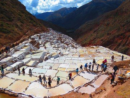 Landscape, Saline, Salt, Salinas Of Maras, Peru