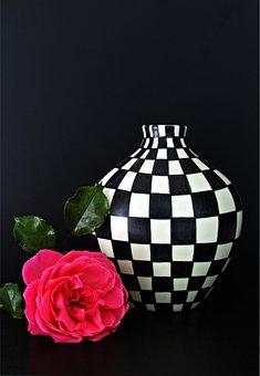 Vase, Rose, Design, Still Life, Art, Painting