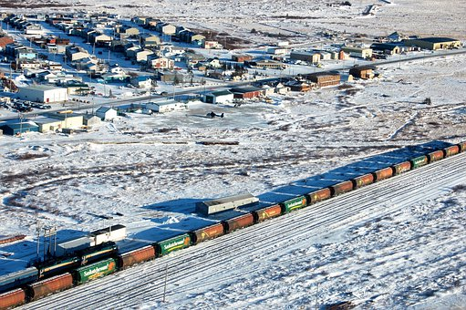 Churchill, Manitoba, Canada, Train, Village, Houses