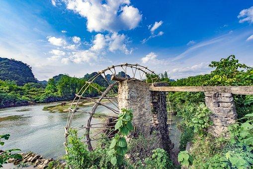 Natural, Scenery, High By, Vietnam, Water, Detian Falls