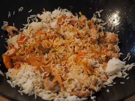 Rice Ladle, Rice Dish, Wok, Asia, Food, Eat, Rice