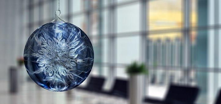 Christmas, Star, Ball, Office, Business