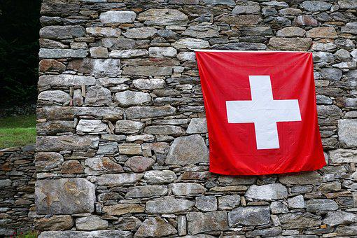 Switzerland, Flag, Swiss Flag, Cross, Red, Blow, Banner
