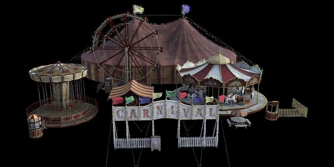 Circus, Year Market, Buden, Ferris Wheel, Carousel