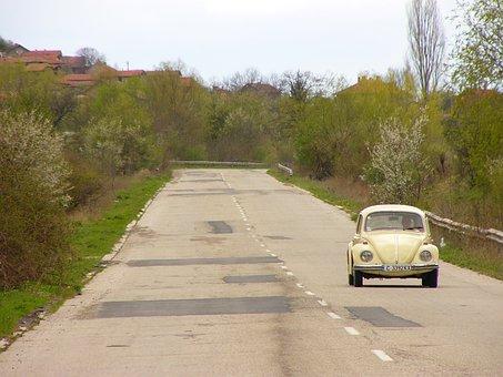 Bulgaria, Times, Village, Old Car, Car, Vw Turtle